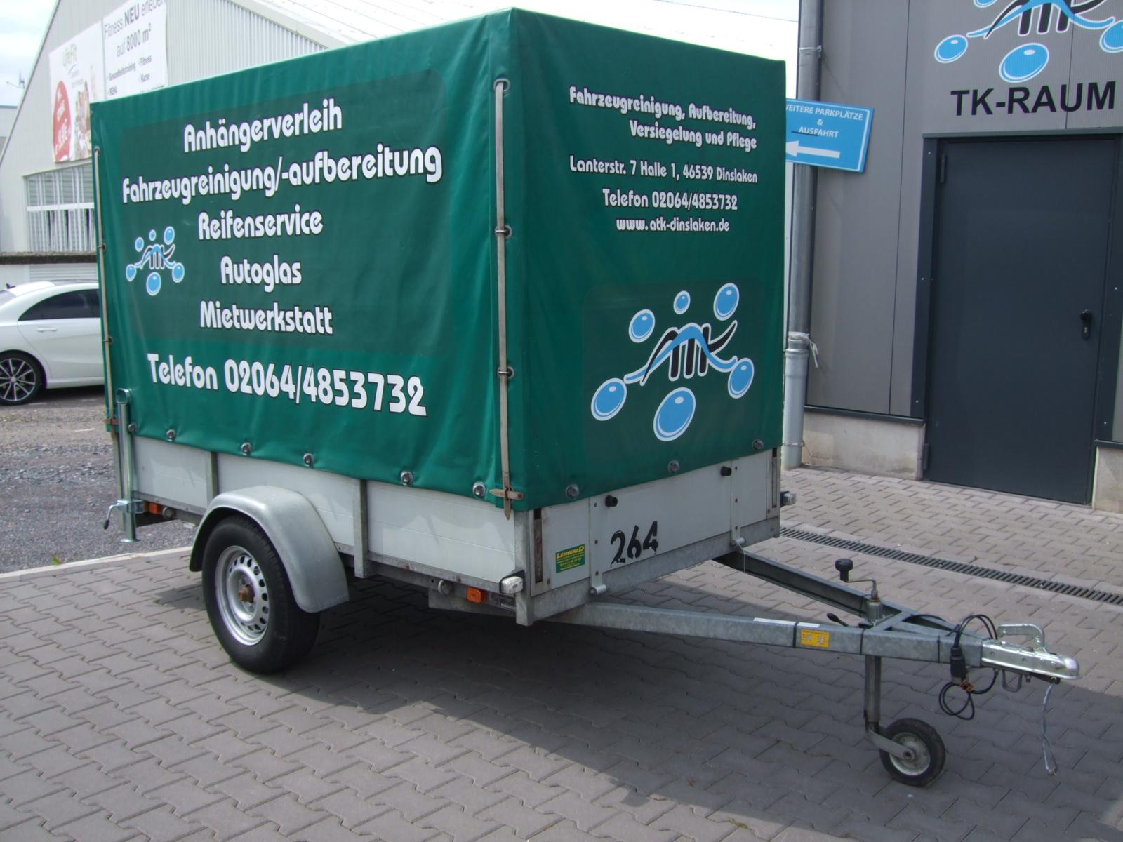 Anhängerverleih 750 kg 2,50 Meter
